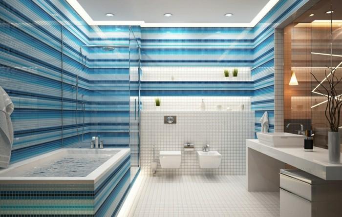 horizontale streifen weiß blau hell und dunkel