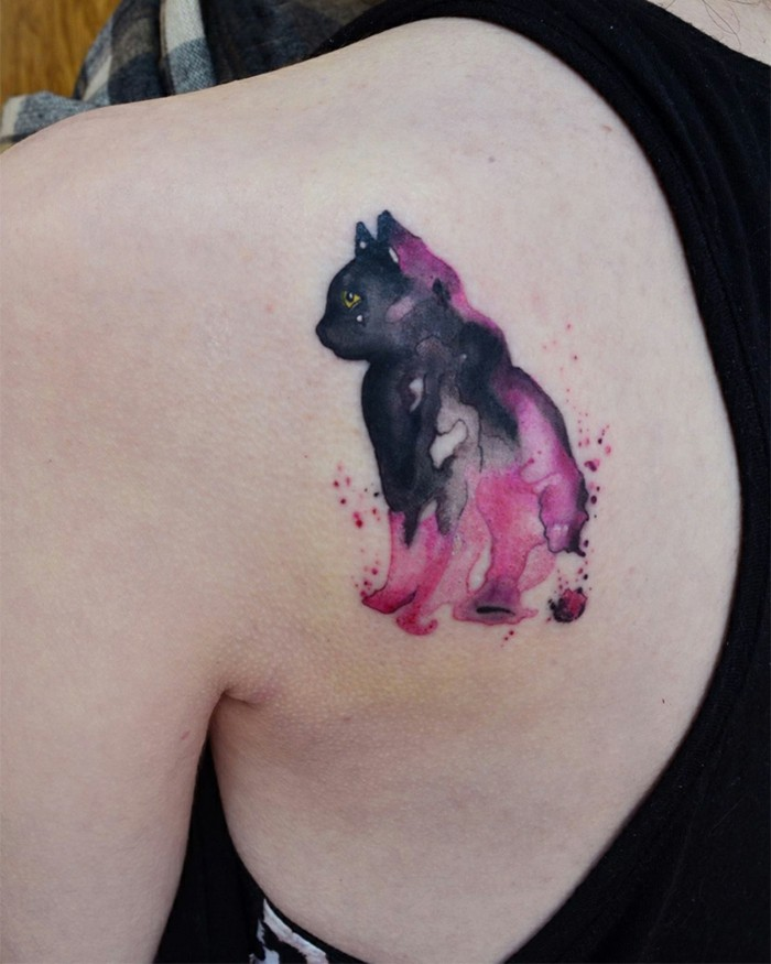 The watercolor tattoo - most beautiful motives and important tips