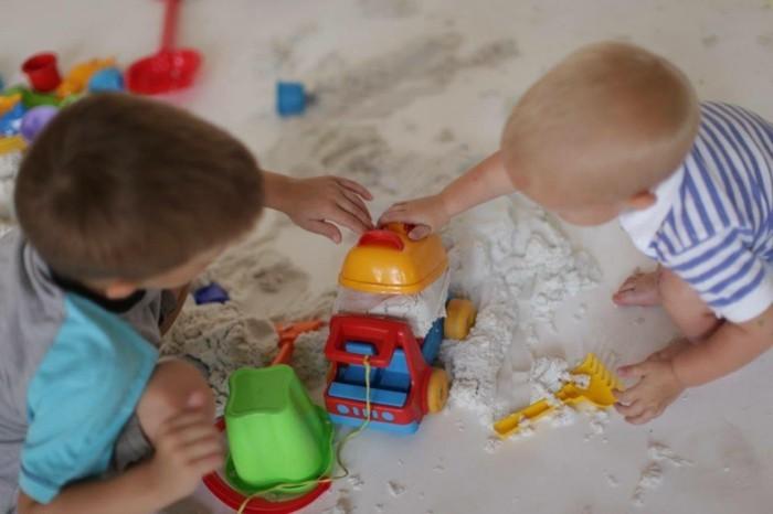 kinderspiele kinetic sand selber machen
