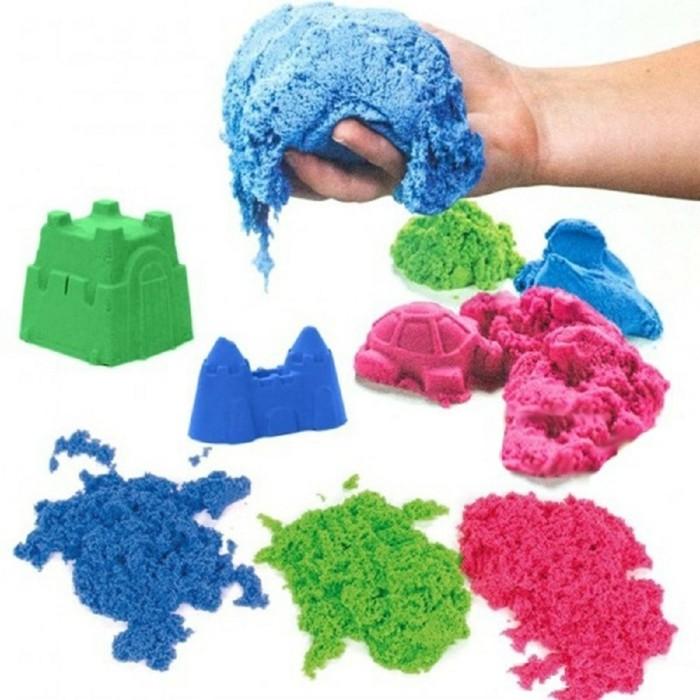 kinderspiele mit kinetischem sand