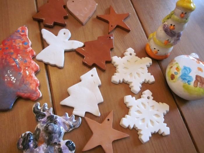 kreativ basteln mit salzteig schöne weihnachtsdeko selber machen und originell färben