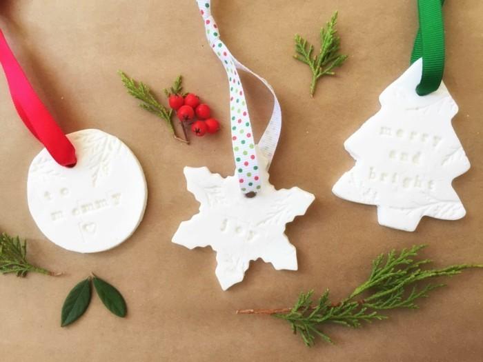 kreativ basteln mit salzteig schöne weihnachtsdeko selber machen