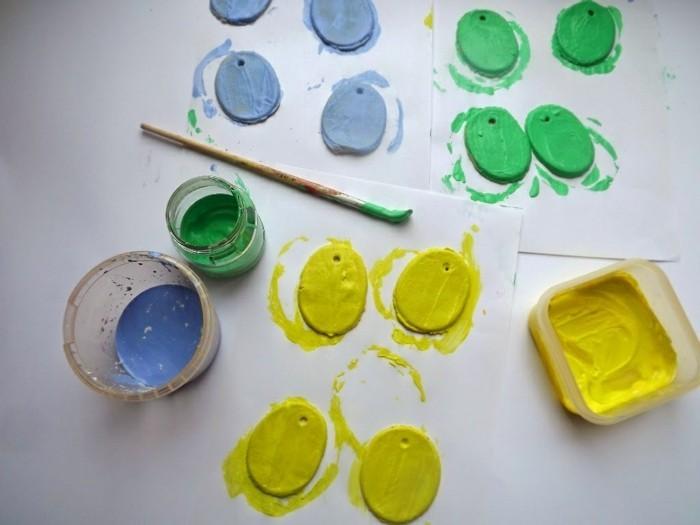 kreativ basteln salzteig färben und schöne figurchen basteln
