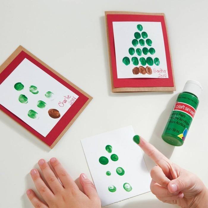 kreative bastelideen für kinder weihnachtsbaum machen