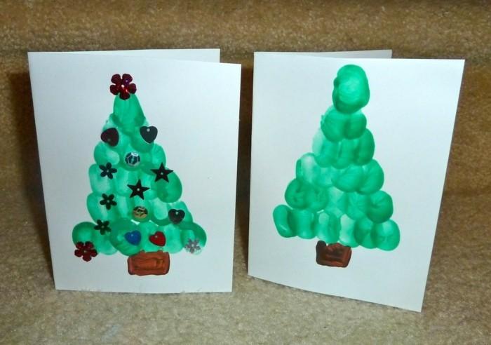 kreative bastelideen grußkarte zu weihnachten