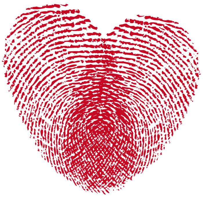 kreative bastelideen herz aus fingerabdrücken