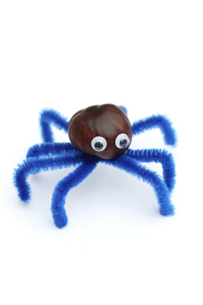 kreative bastelideen lustige spinne selber machen