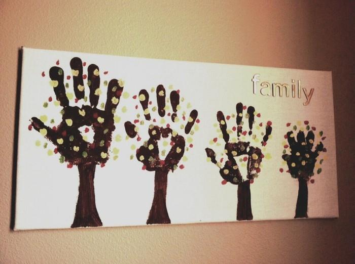 kreative bastelideen mit handabrücken und fingerabdrücken