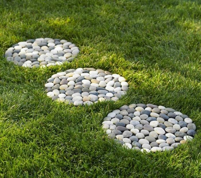 kreative gartenideen gartenweg selber machen mit steinen
