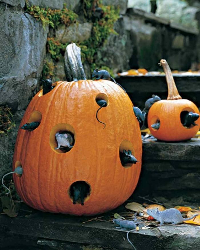 kreative gartenideen halloween deko ideen mit kürbissen