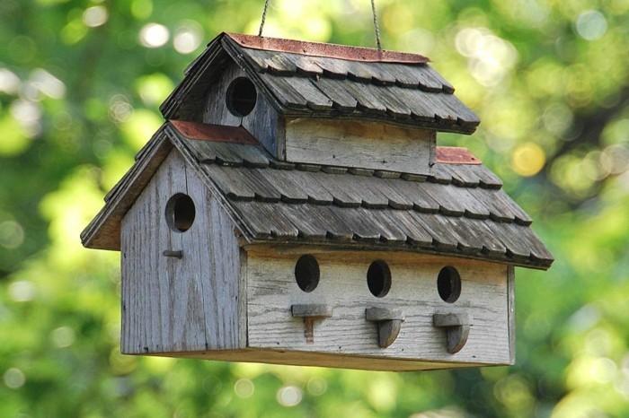 kreative gartenideen vogelhaus selber bauen
