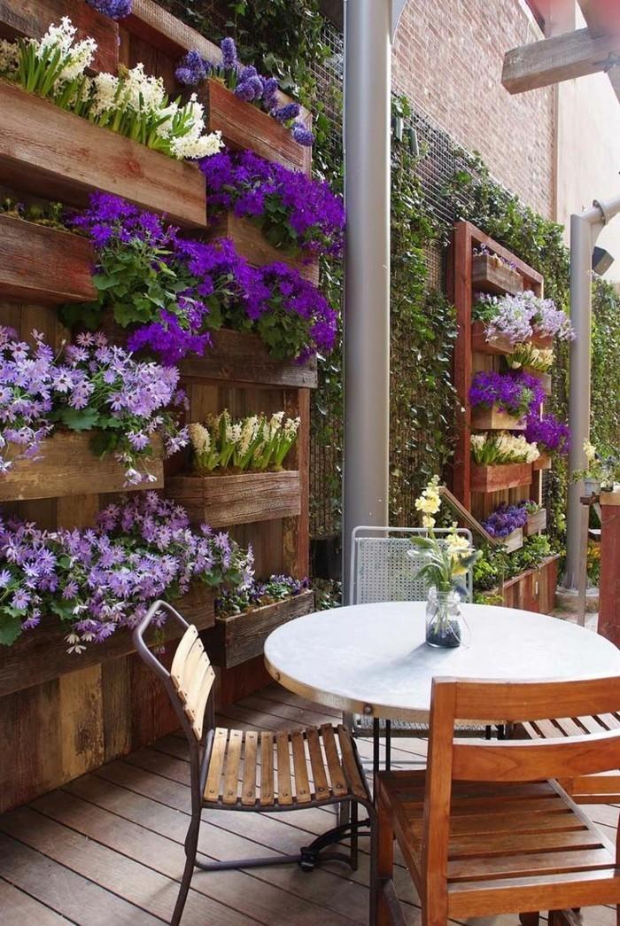 moderne terrassengestaltung wunderschöne bepflanzung des außenbereiches