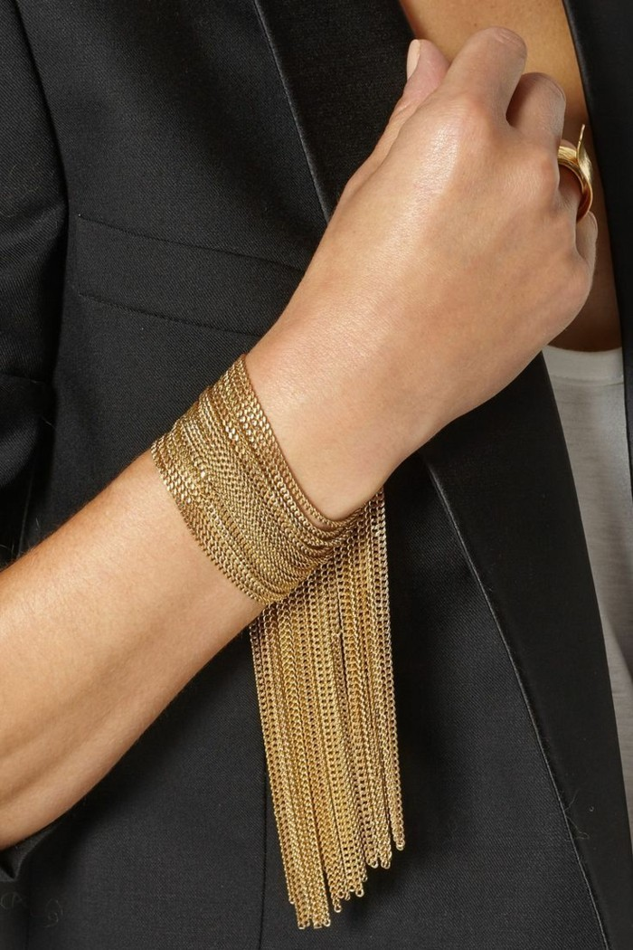 modeschmuck trends modernes armband in gold