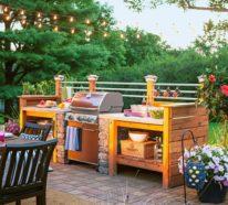 Outdoor Küche macht es möglich, köstliches Essen draußen zu genießen