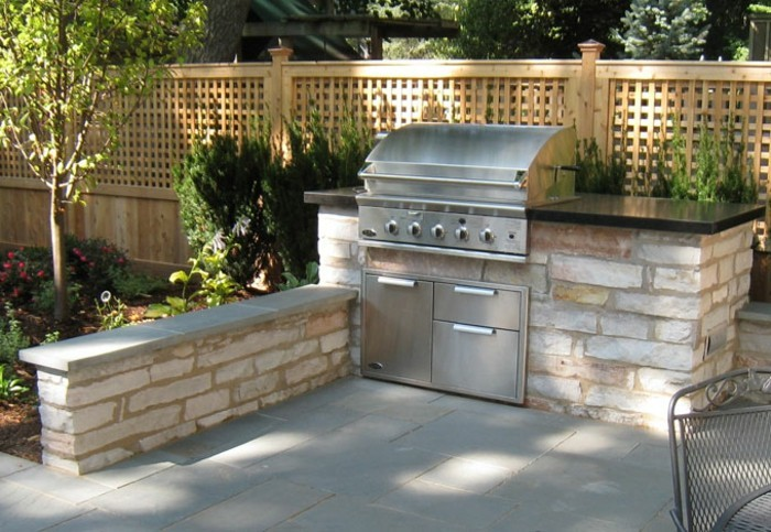 outdoor küche kleiner garten mit begrenzter fläche kann auch über eine außenküche verfügen
