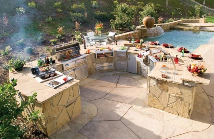 outdoor küche traumgarten mit schwimmbad und außenküche