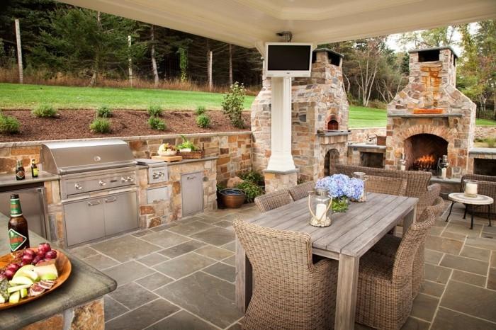 outdoor küche trendig und hell