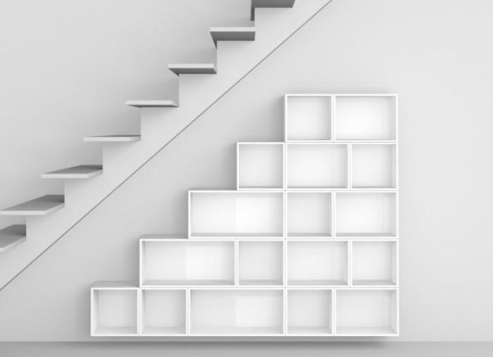 regalsysteme wohnzimmer treppe