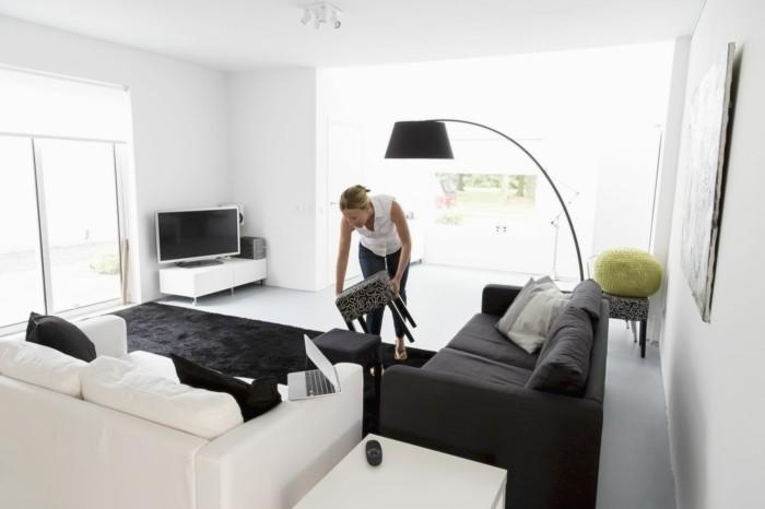 richtig aufräumen praktische tipps wohnzimmer