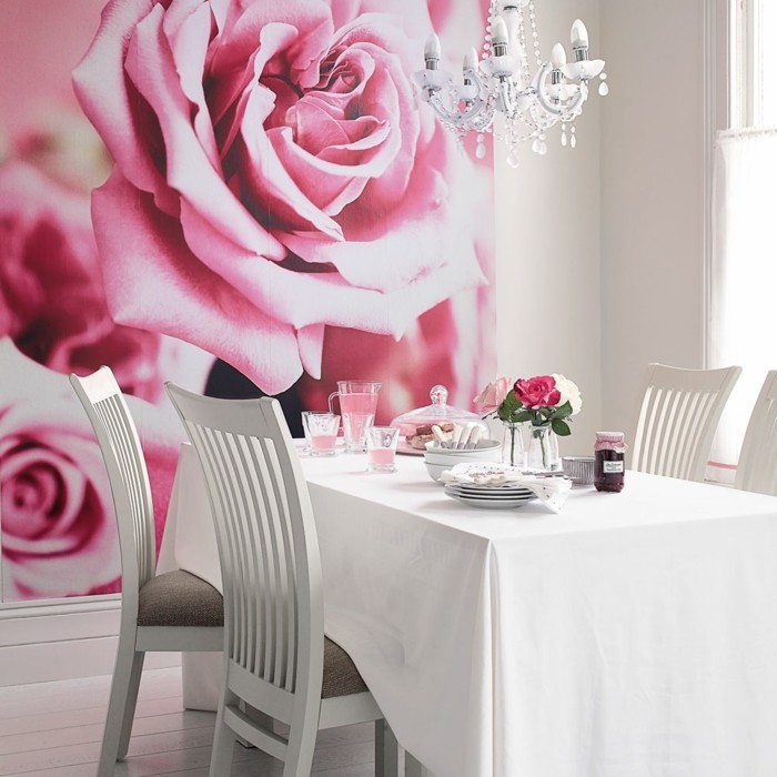 rosa in rosa dekoideen
