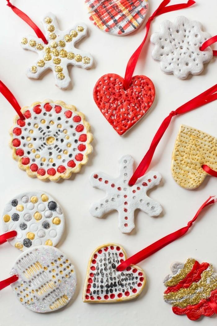 salzteig ideen mit kreativer hängedeko zu weihnachten verschönern