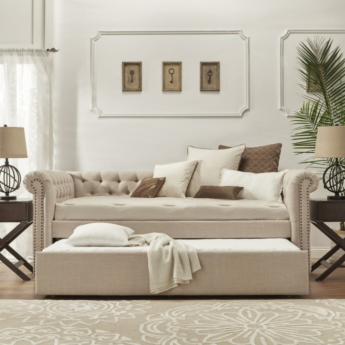 schlafcouch helle farbe und komfort