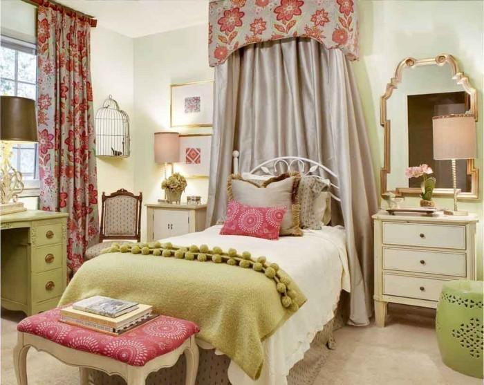 schlafzimmer einrichten elegante florale muster sorgen für heitere stimmung im schlafbereich
