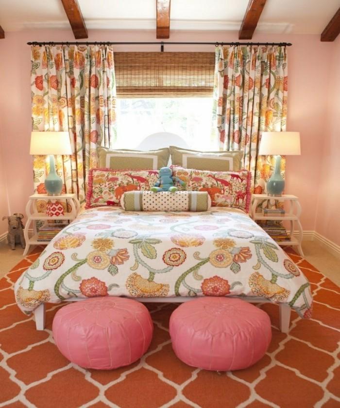schlafzimmer einrichten weiblich und frisch
