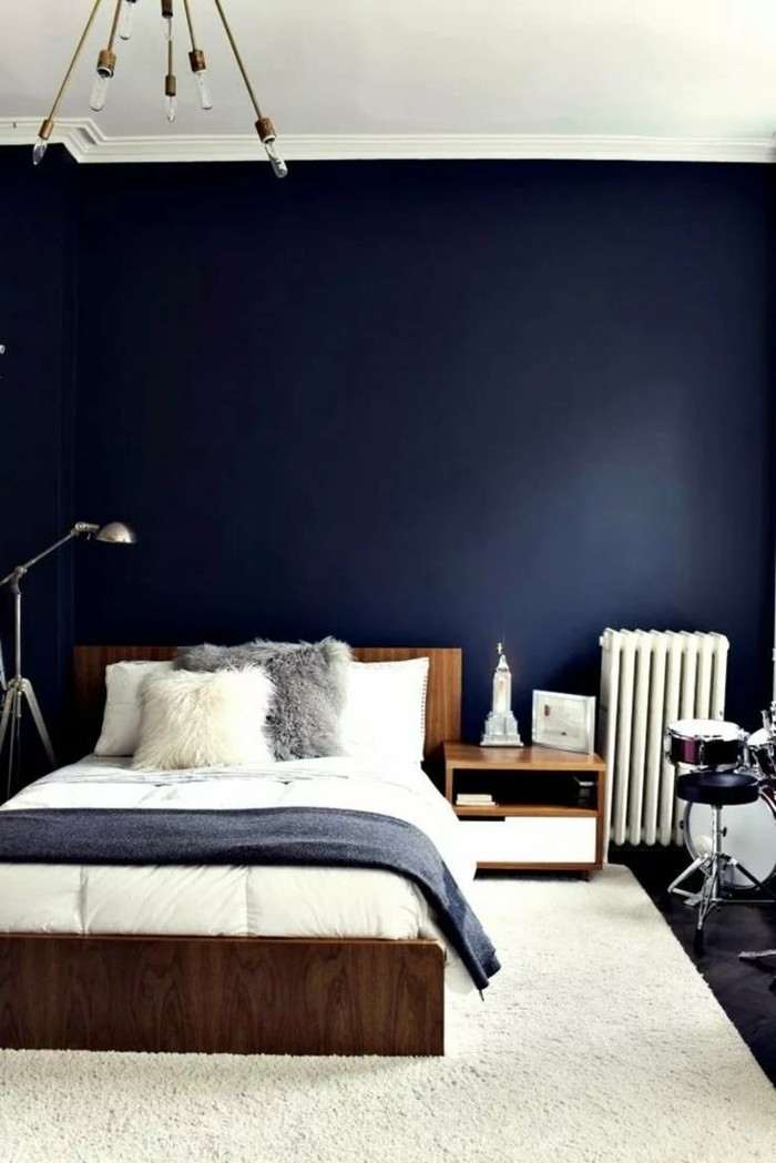 wandfarbe schlafzimmer grau blau wohn design. Black Bedroom Furniture Sets. Home Design Ideas