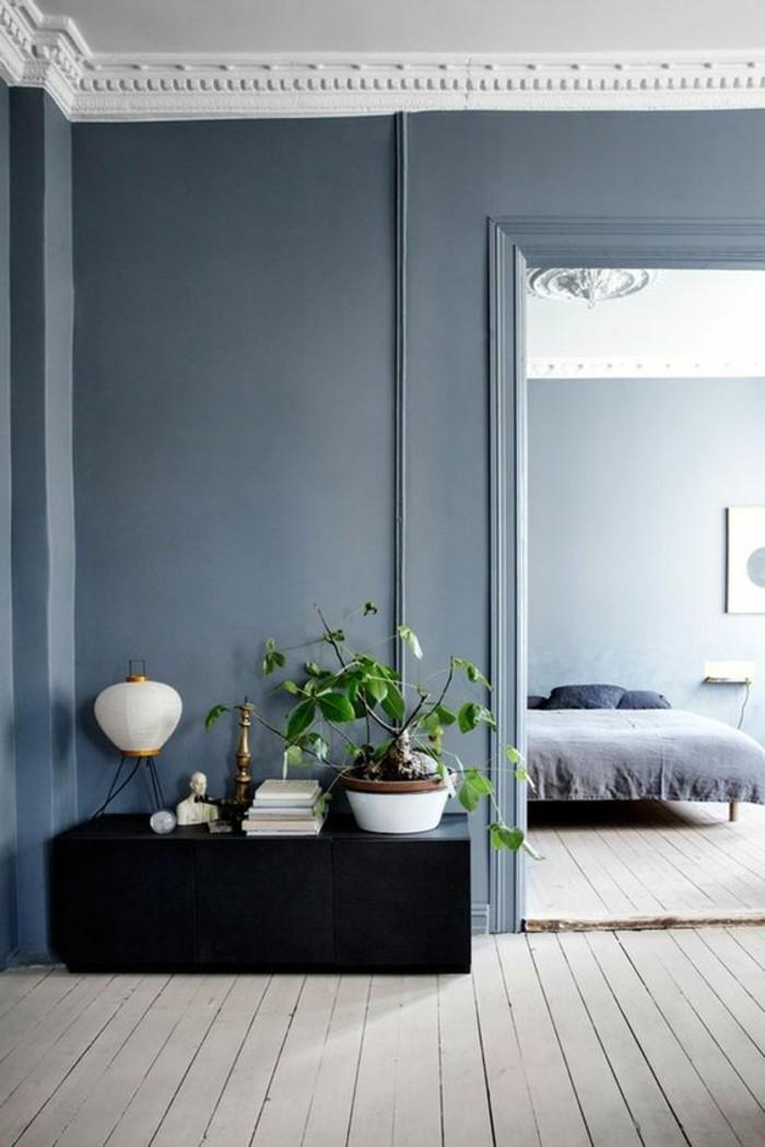 Schlafzimmergestaltung In Hellgrau Mit Dunklen Akzenten