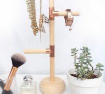 Individuelle Schmuckaufbewahrung- Über 50 DIY Ideen für Schmuckständer