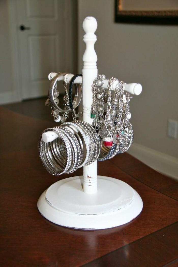 schmuckständer schmuckaufbewahrung diy ideen upcycling ideen dekorativ