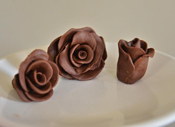 schokoladenrosen selber machen mit modellierschokolade