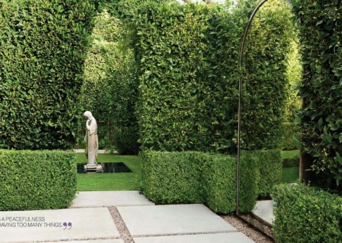 spiegel kommen auch in edleren gärten zur anwendung