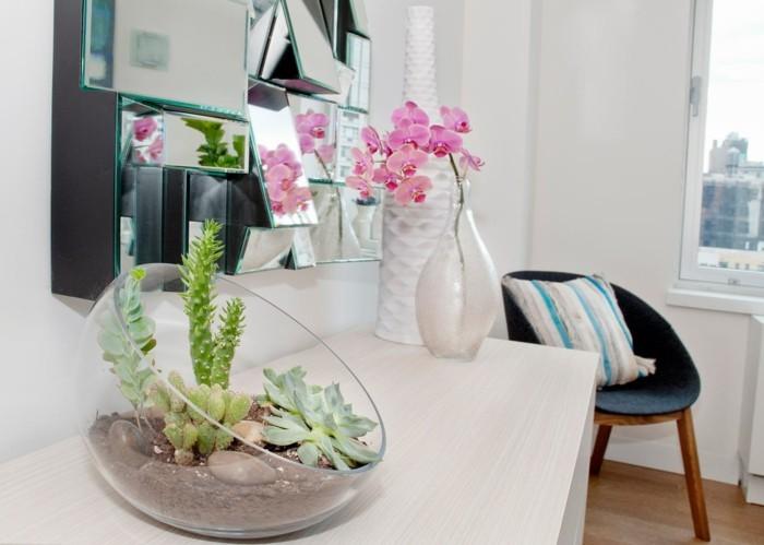 sukkulenten deko fürs zuhause schönes terrarium
