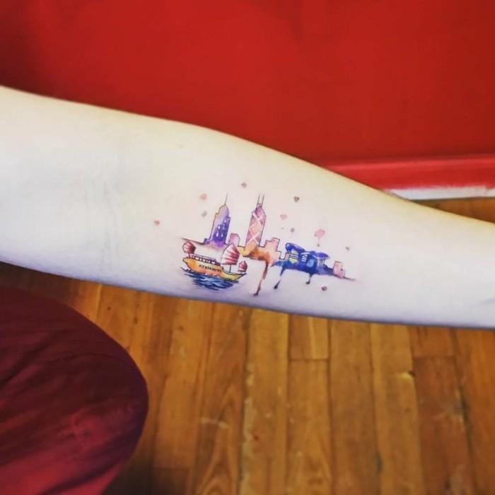 tattoo aquarell unterarm tätowierung