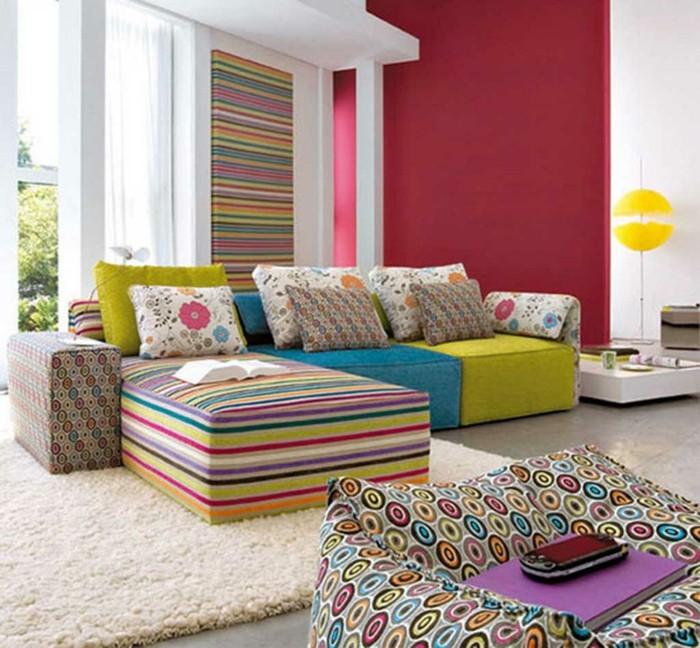 textilien muster an den möbeln streifen