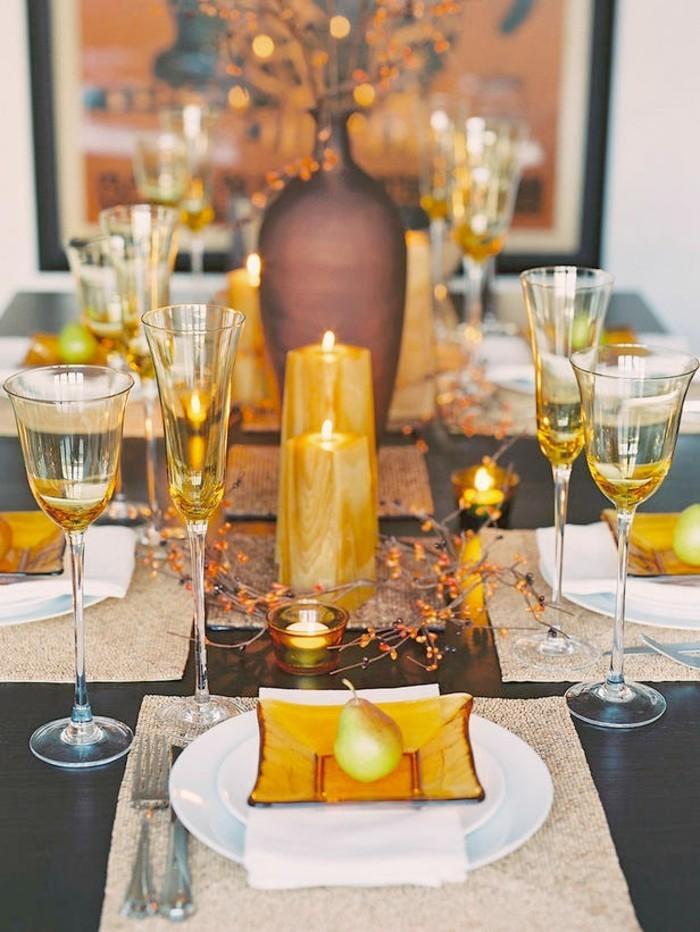Tischdeko herbst naturmaterialien  Tischdeko Herbst - 51 Vorschläge für eine herbstliche Tafel