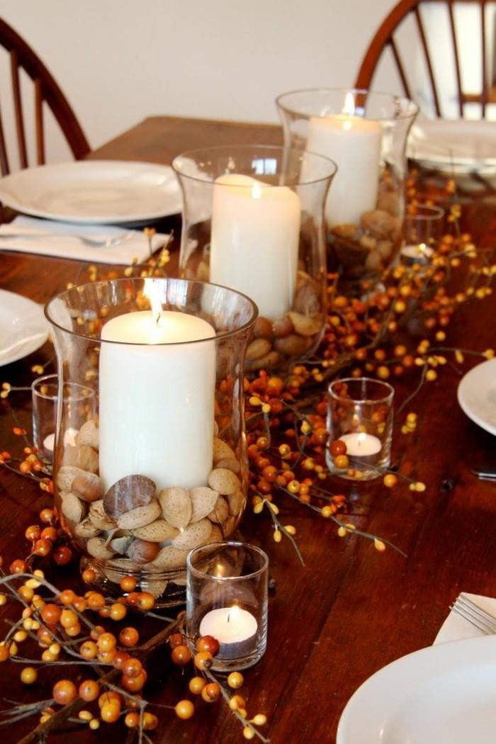 tischdeko herbst 51 vorschl ge f r eine herbstliche tafel. Black Bedroom Furniture Sets. Home Design Ideas