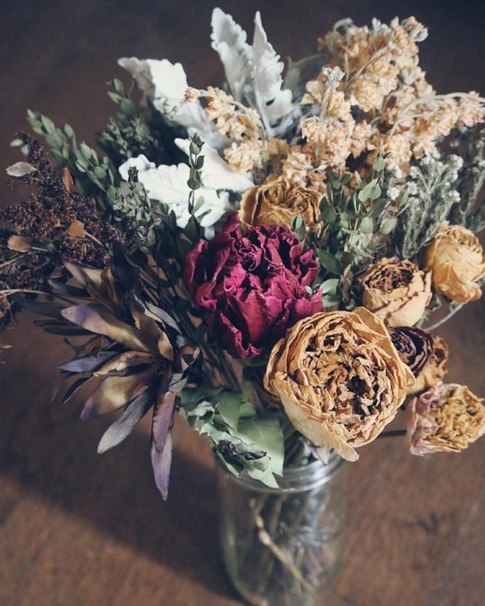 trockenblumen in einmachglas dekoideen für innen