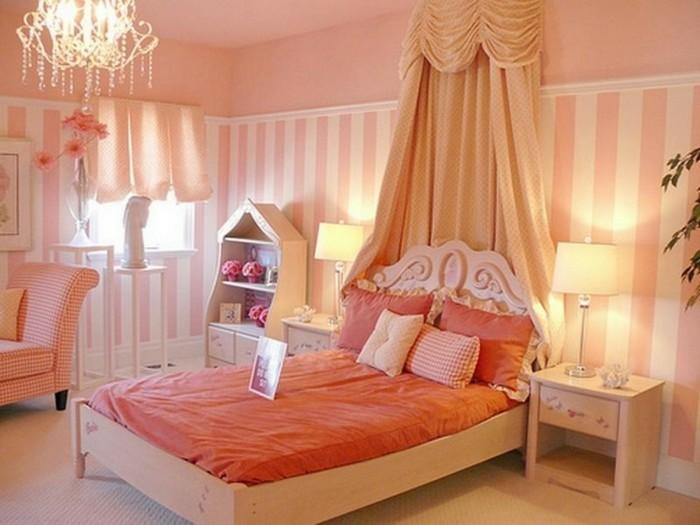 vertikale streifen einrichtungsidee schlafzimmer
