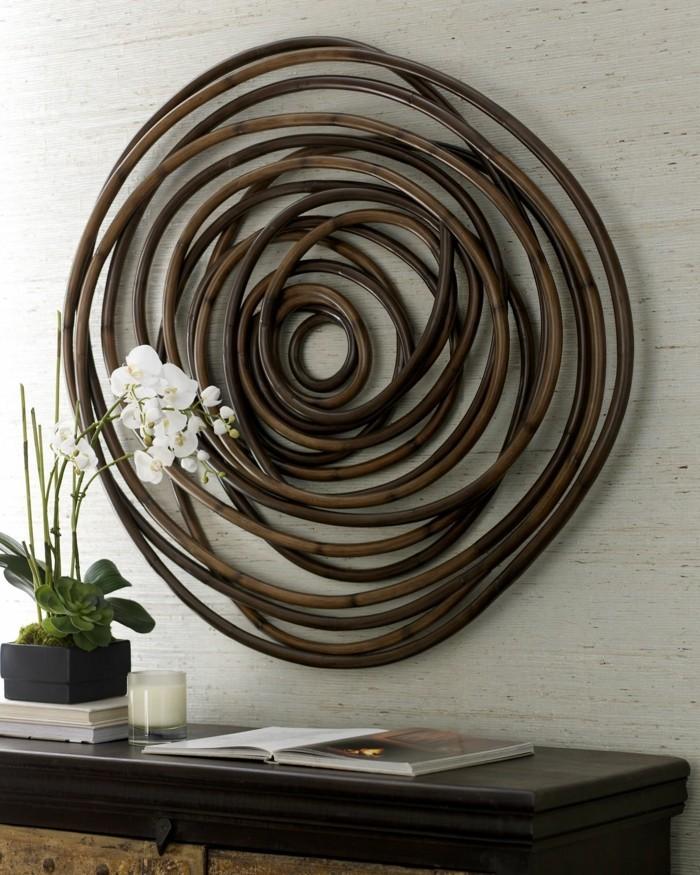 wanddeko aus holz organische w rme und gem tlichkeit im innenraum. Black Bedroom Furniture Sets. Home Design Ideas