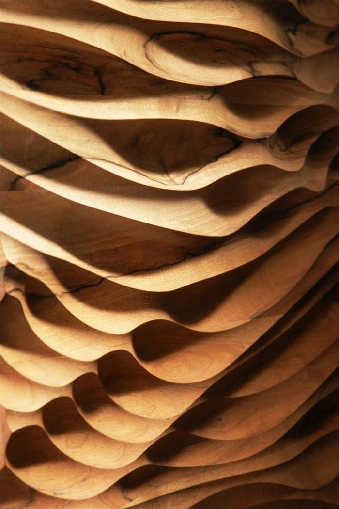 wanddeko aus holz struktur