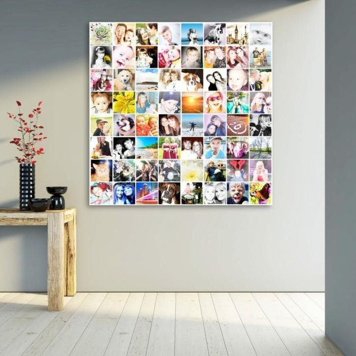 wanddeko ideen mit fotos kollage gestalten