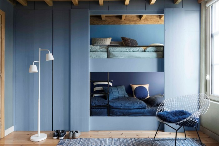 aktuelle blaut ne und farbmuster in der raumgestaltung 2017. Black Bedroom Furniture Sets. Home Design Ideas