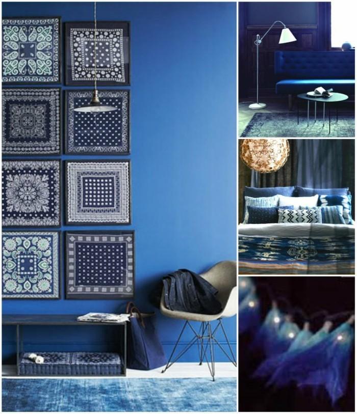 wandfarben palette blautöne 2017 herbst prints