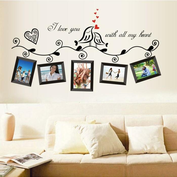 wandtattoo mit fotorahmen ist dekorativ und funktional zugleich