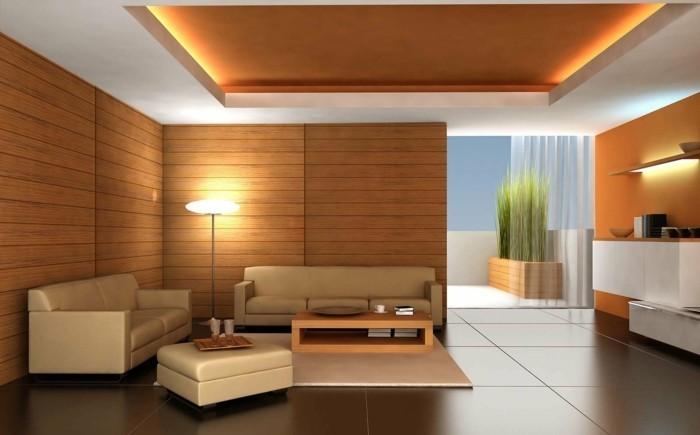 wandverkleidung aus holz wohnzimmer ideen