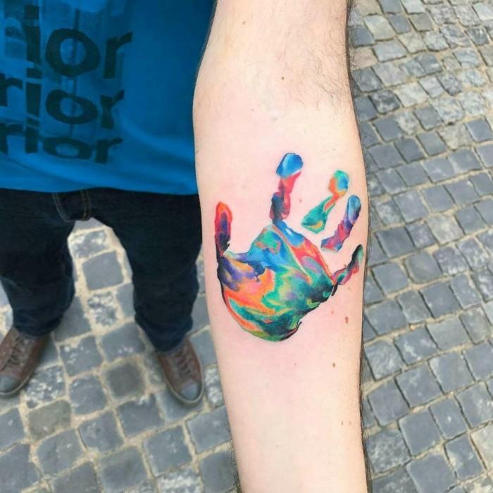 wasserfarben tattoo unterarm watercolor tätowierung