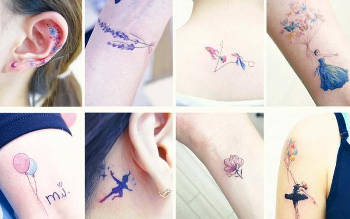 watercolor tattoos klein frauen tätowierung
